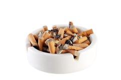 Ashtray. Full of cigarette. Stop smoking Royalty Free Stock Photo