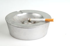 Ashtray. With cigarette in it Royalty Free Stock Images