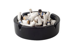 Ashtray. A lot of butts in ashtray Stock Image