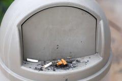 Ashtray bin outdoors Stock Image