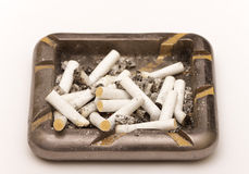 Ashtray with butts Stock Images