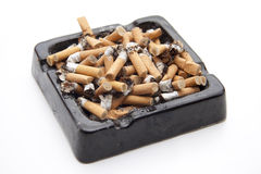 Ashtray with cigarets Royalty Free Stock Photography