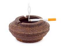 Ashtray and cigarette Royalty Free Stock Image