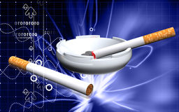 Ashtray and cigarette Royalty Free Stock Images
