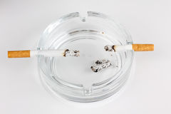 Ashtray and cigarette Royalty Free Stock Photo