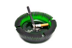 Ashtray and cigarette Stock Photography