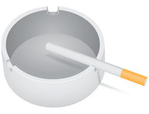 Ashtray with cigarette Stock Photos
