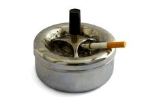 Ashtray and cigarette Stock Photos