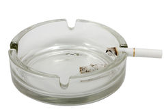 Ashtray with cigarette Royalty Free Stock Photography