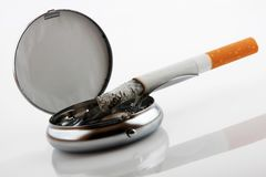 Ashtray with cigarette Stock Image