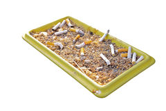 Ashtray and cigarette butt Stock Images