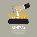 Ashtray With Cigarette Lighted Stock Photo