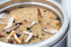 Ashtray of cigarette Royalty Free Stock Photography