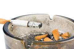 Ashtray with cigarette Stock Photography