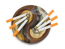 Ashtray and cigarettes Royalty Free Stock Images