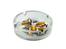 Ashtray of cigarettes Stock Photos