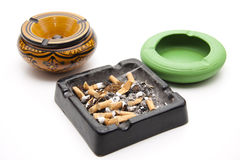 Ashtray with cigarettes Stock Photo