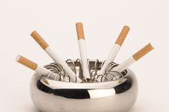 Ashtray with cigarettes Stock Image