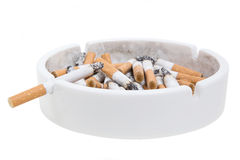 Ashtray and cigarettes Stock Images