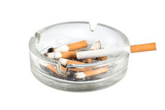 Ashtray and cigarettes close-up Stock Photo