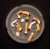 Ashtray with Cigarettes Royalty Free Stock Photography