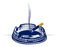 Ashtray engraving icon Royalty Free Stock Images