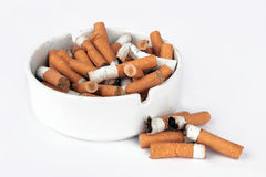 Ashtray full Royalty Free Stock Photography