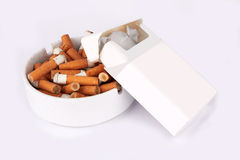 Ashtray full Stock Image