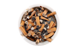 Ashtray full of cigarette. Bad for health Royalty Free Stock Image