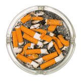 Ashtray full of cigarette butts Stock Photography