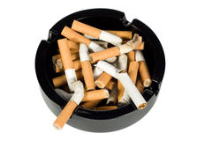 Ashtray full of cigarettes Royalty Free Stock Image
