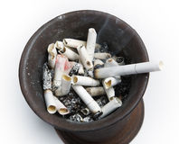 Ashtray full of stubs Royalty Free Stock Photo