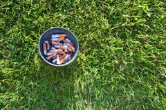 Ashtray in grass Stock Photography