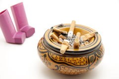 Ashtray with inhaler Royalty Free Stock Photo