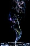 ashtray kolorowy dym Obraz Stock