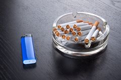 Ashtray and lighter Stock Image