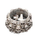 Ashtray made of skulls Royalty Free Stock Image