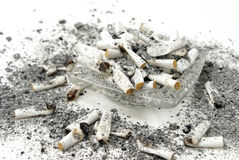Ashtray Overflow Stock Photo