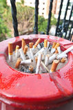 Ashtray red Stock Image