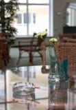 Ashtray on reflecting surface Stock Image