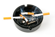Ashtray smoke Royalty Free Stock Photo