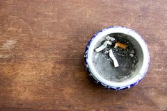 Ashtray on table Stock Image