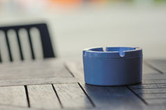 Ashtray on the table Royalty Free Stock Photos