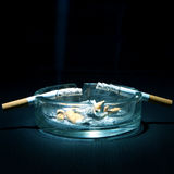 Ashtray and Two Cigarettes Royalty Free Stock Images