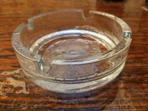 Ashtray with water drops Stock Photo