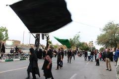 Ashura korowód w Qom, Iran zdjęcia stock