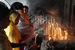 Ashura santo celebra Dacca, Bangladesh fotografia stock libera da diritti