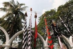 Ashura santo celebra Dacca, Bangladesh Imagen de archivo libre de regalías
