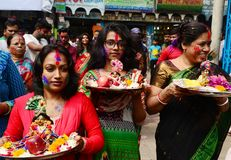 Ashura santo celebra Dacca, Bangladesh immagini stock