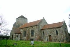 All Saints village church Ashwicken in Norfolk UK. stock image
